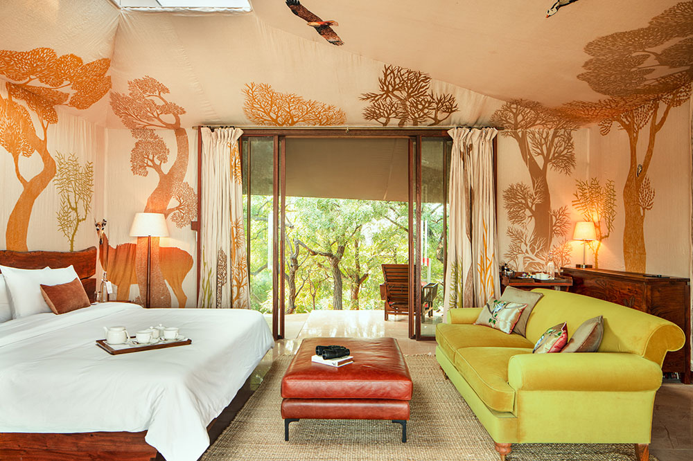 Guest tent at RAAS Chhatrasagar in Rajasthan, India