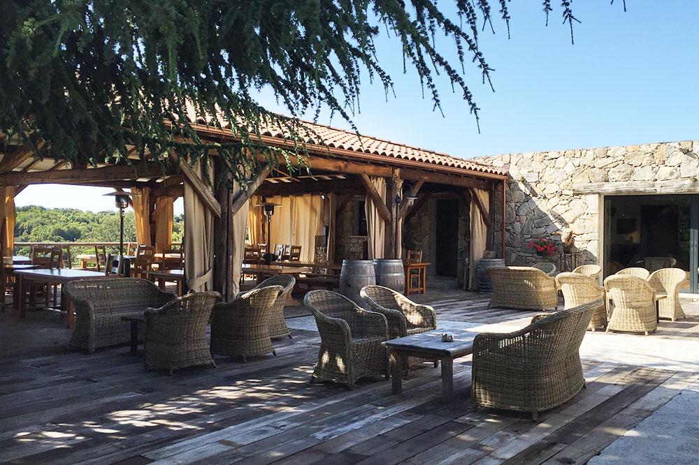 The terrace of A Pignata in Levie