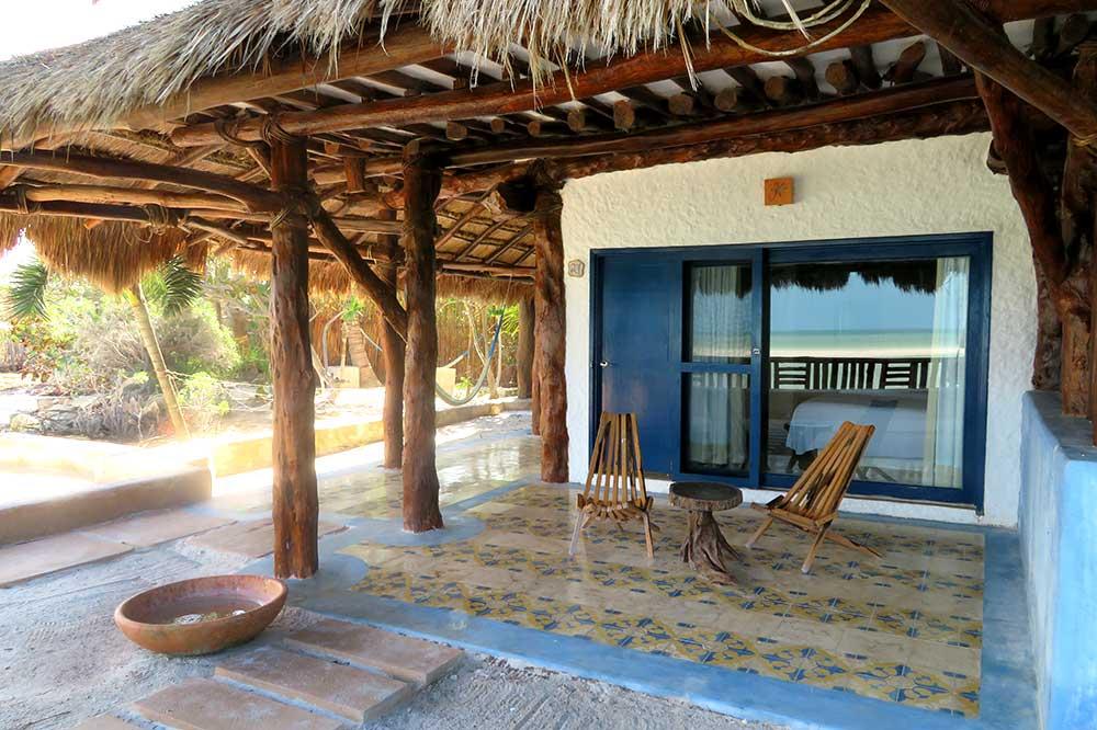 Our terrace at Las Nubes de Holbox