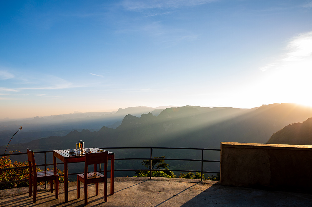 View of Simien Mountains National Park from Limalimo Lodge, Ethiopia