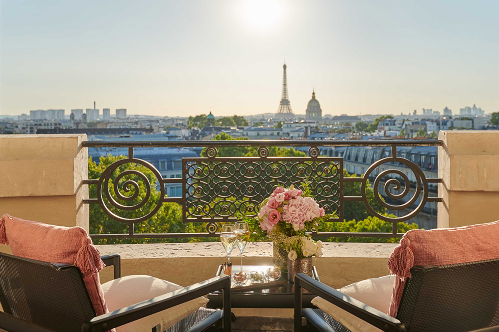 Suite Amour With Eiffel View terrace at Lutetia, Paris