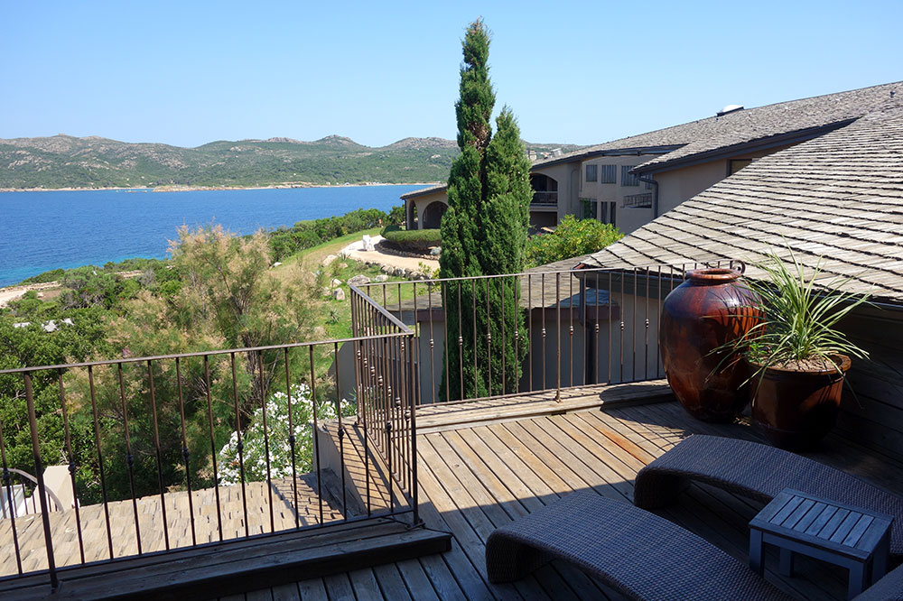The view from our suite's terrace at U Capu Biancu