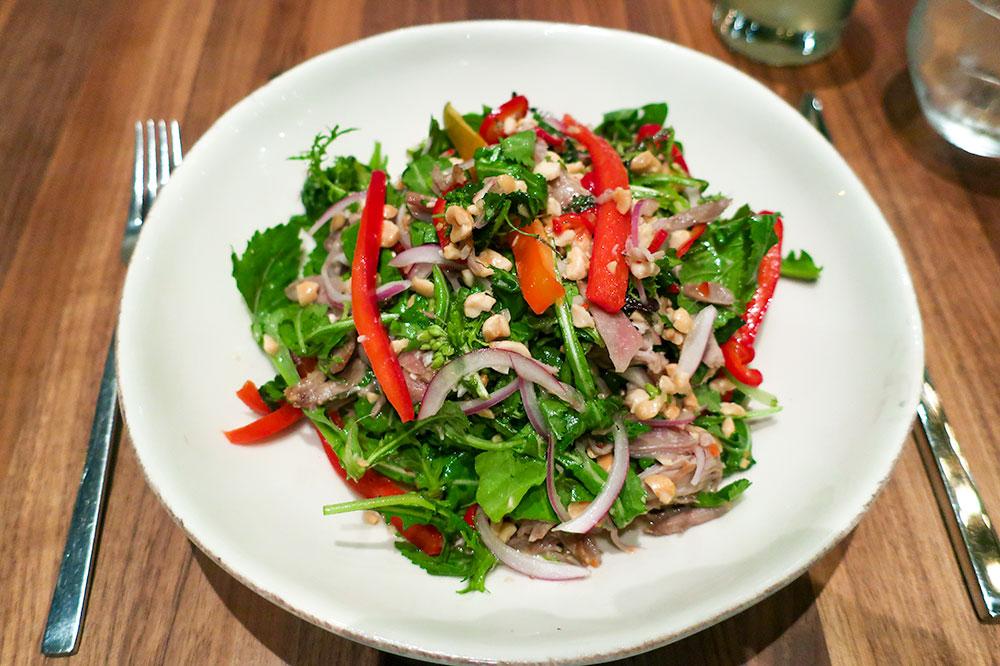 Thai duck confit salad from Harley in Laguna Beach