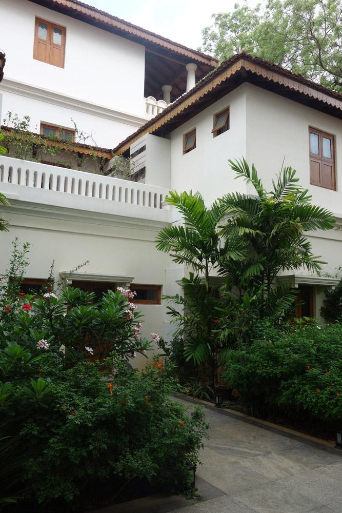 A quiet courtyard at Svatma