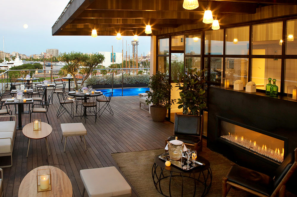 The rooftop at The Serras