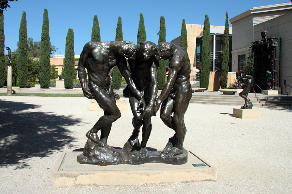 The Three Large Shades, by Auguste Rodin (gift of the B. Gerald Cantor Collection)
