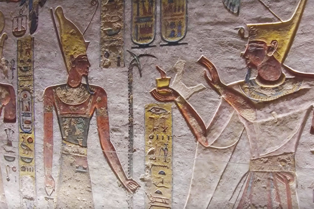 The tomb of Ramses III at the Valley of the Kings in Luxor