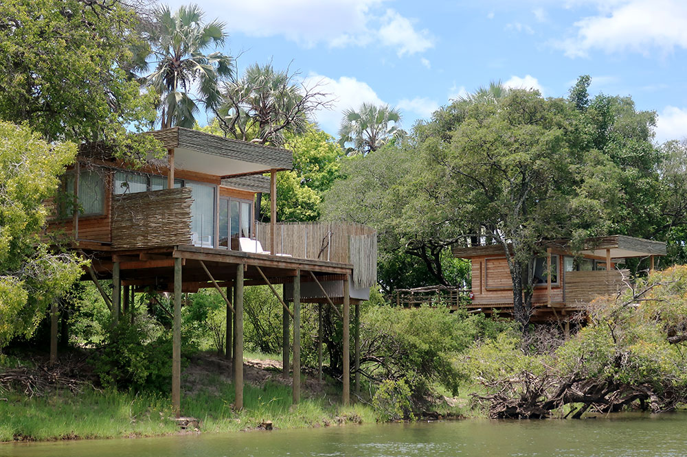 Lodgings on the Zambezi River at Victoria Falls River Lodge Island Treehouses near Victoria Falls, Zimbabwe