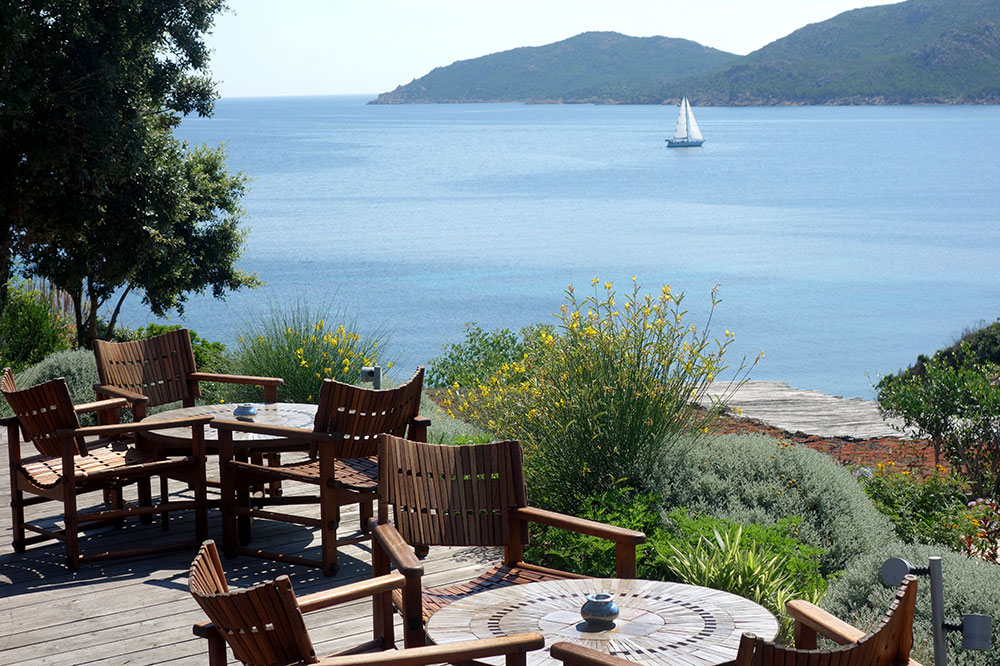 The view from the terrace at U Capu Biancu