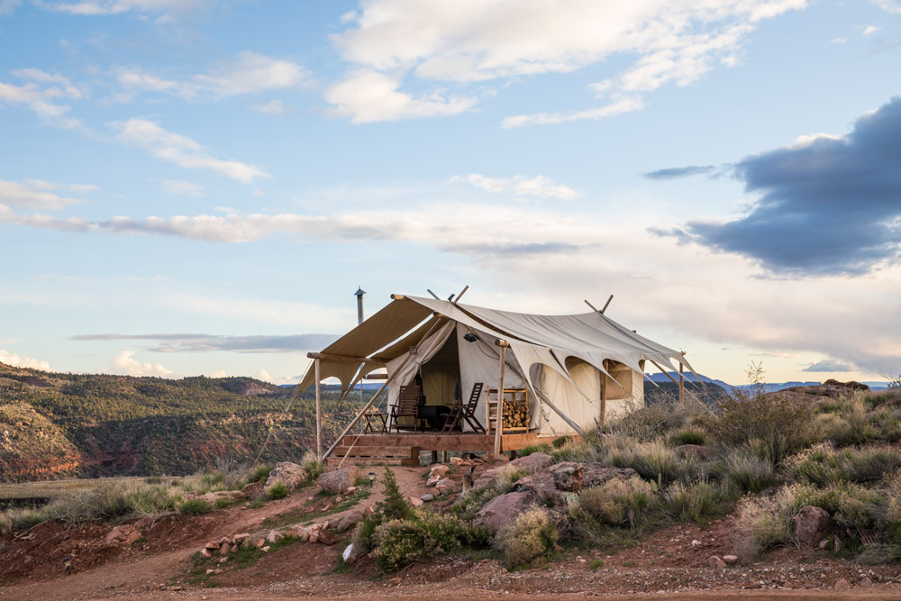 Safari tent at Under Canvas Zion
