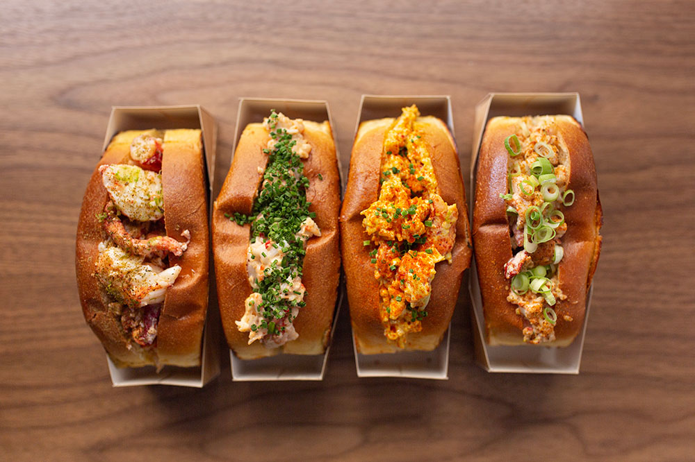 Variety of lobster rolls from Homer Lobster