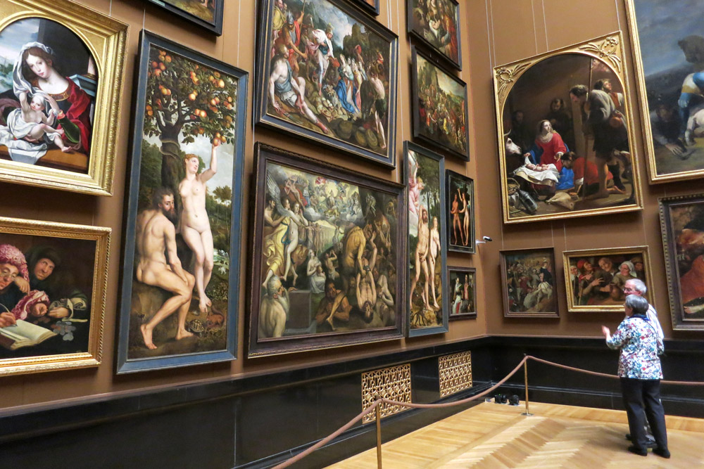 Visitors admire paintings at the Kunsthistorisches Museum in Vienna