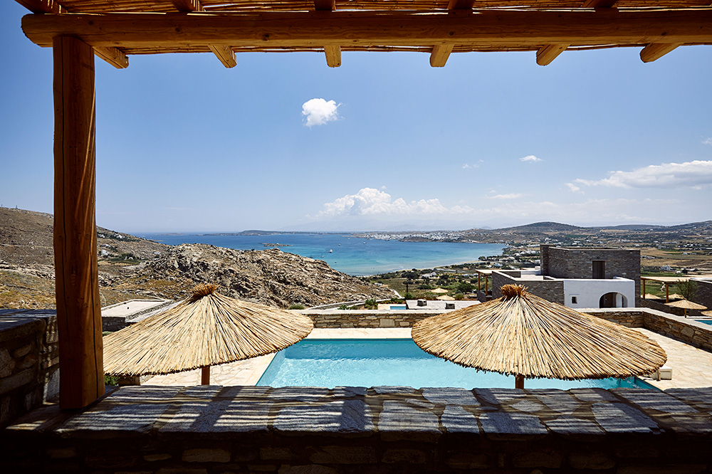 View from one of the 19 Acron Villas, Paros, Greece