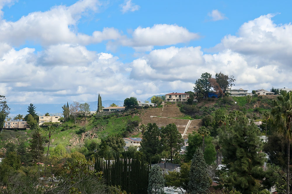The view from the trail at Fryman Canyon Park in Los Angeles