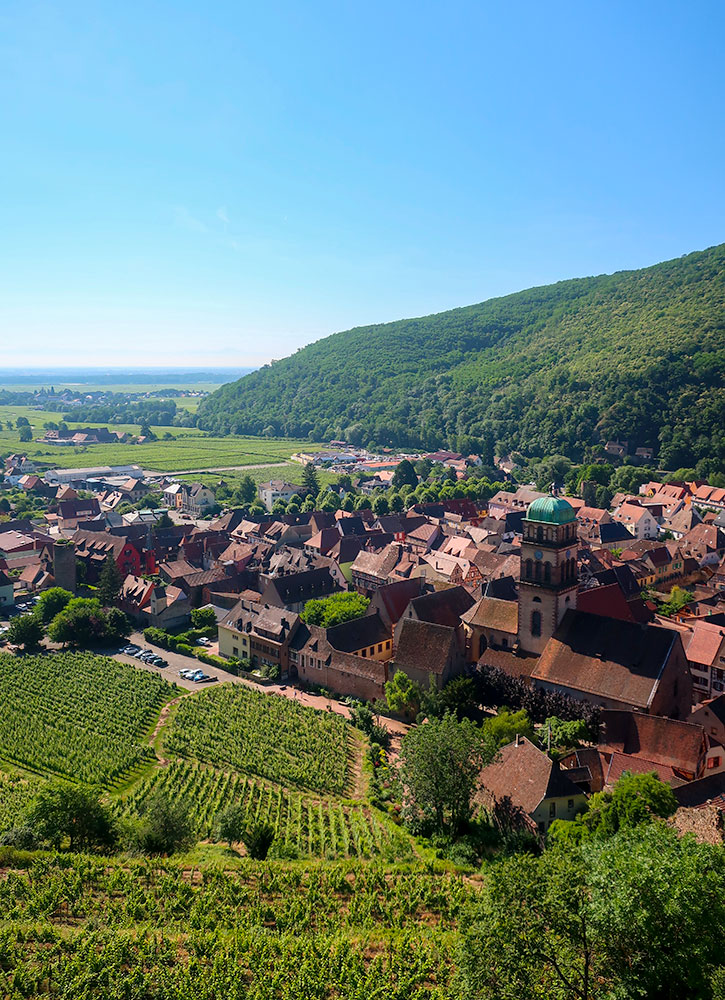 View of Kaysersberg from the Château de Kaysersberg