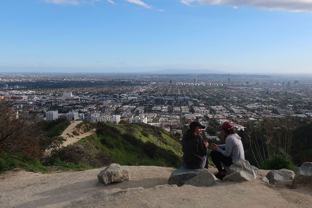 View of Los Angeles from the East Trail