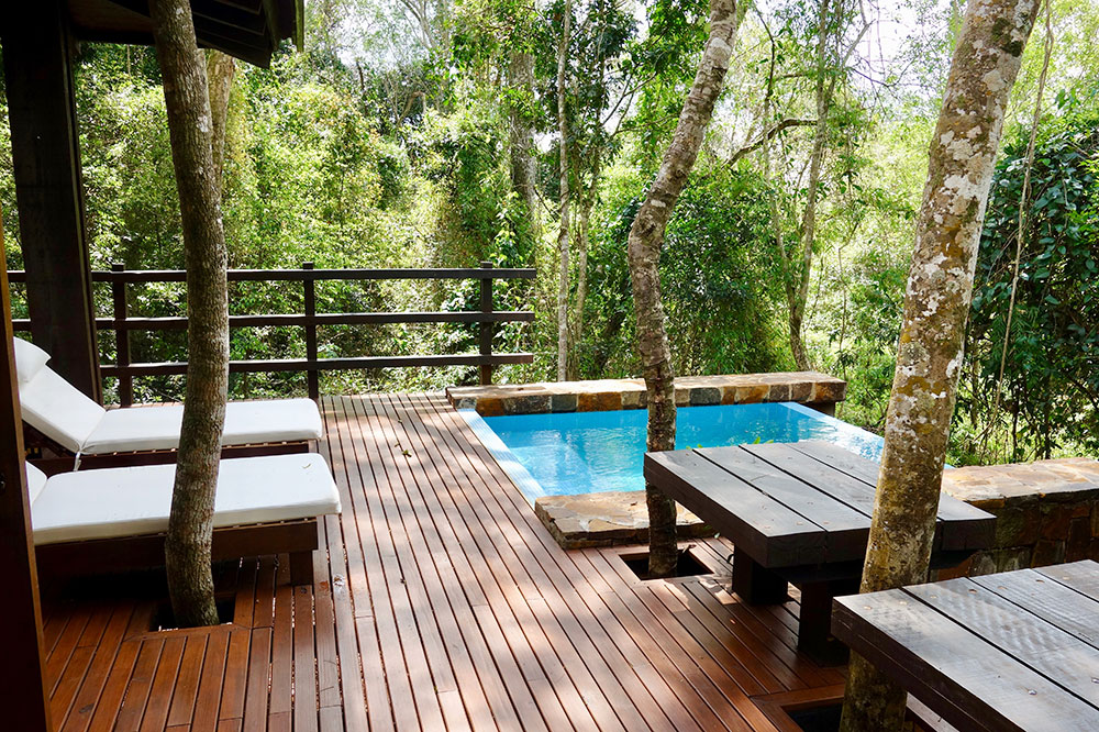 The pool of our villa at Awasi Iguazú
