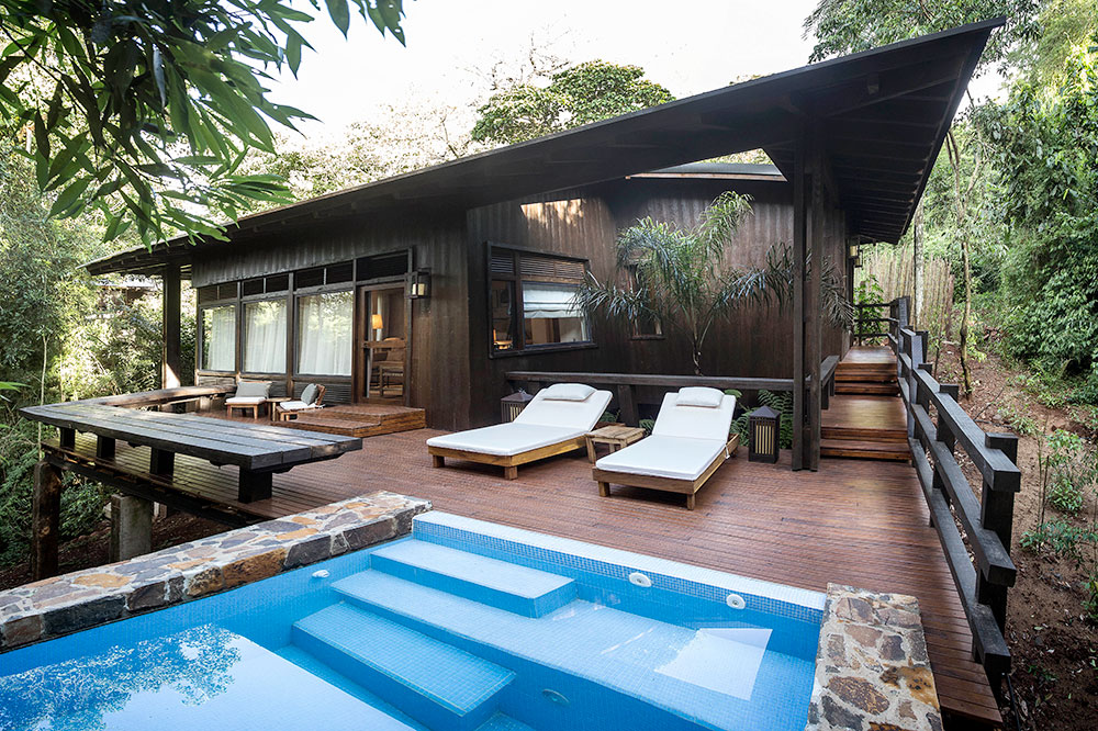 A villa's private plunge pool at Awasi Iguazú