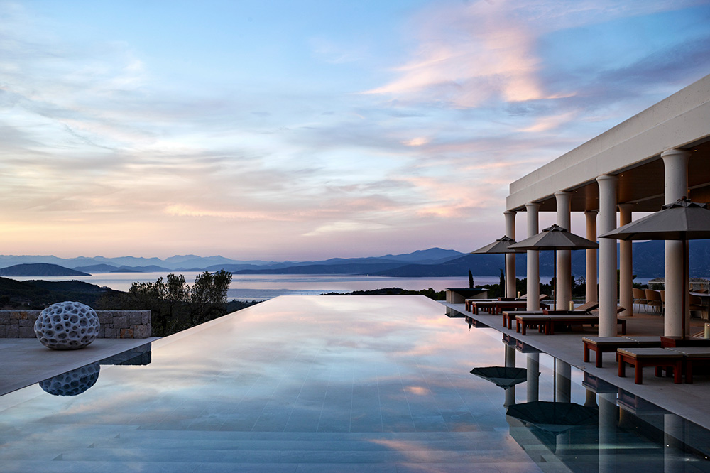 Nine-bedroom villa at Amanzoe