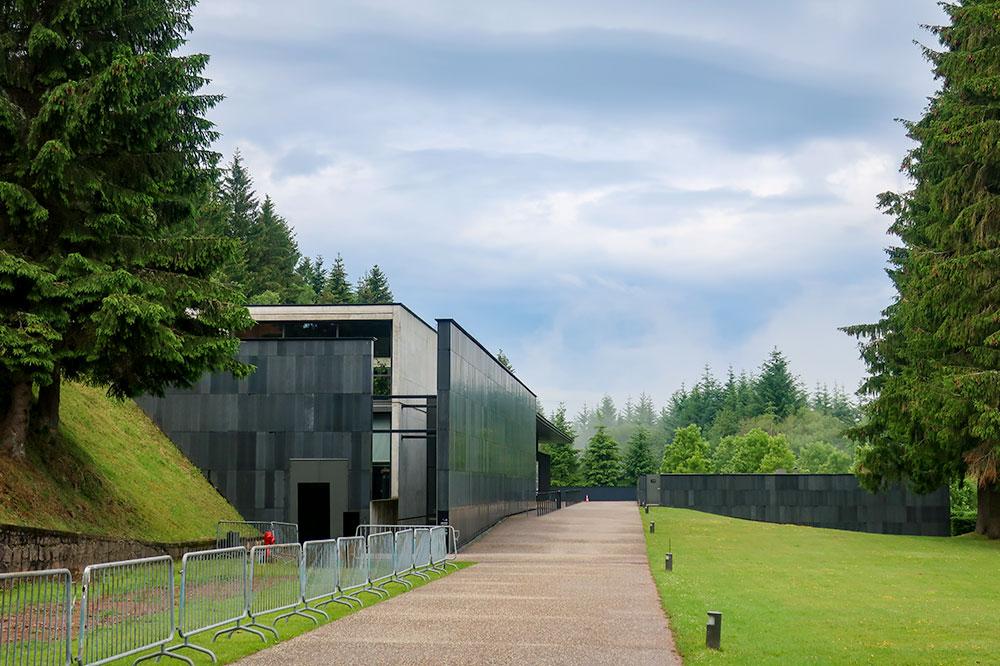 The visitor center at Natzweiler-Struthof