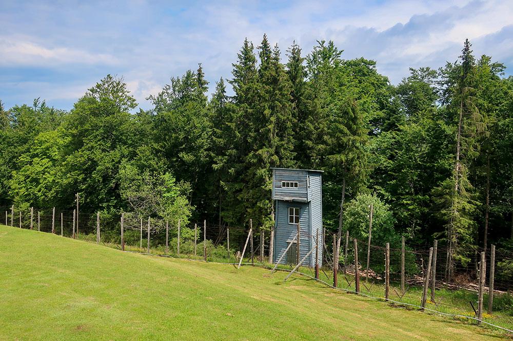 A watchtower at Natzweiler-Struthof