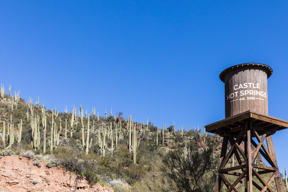 Water tower at Castle Hot Springs