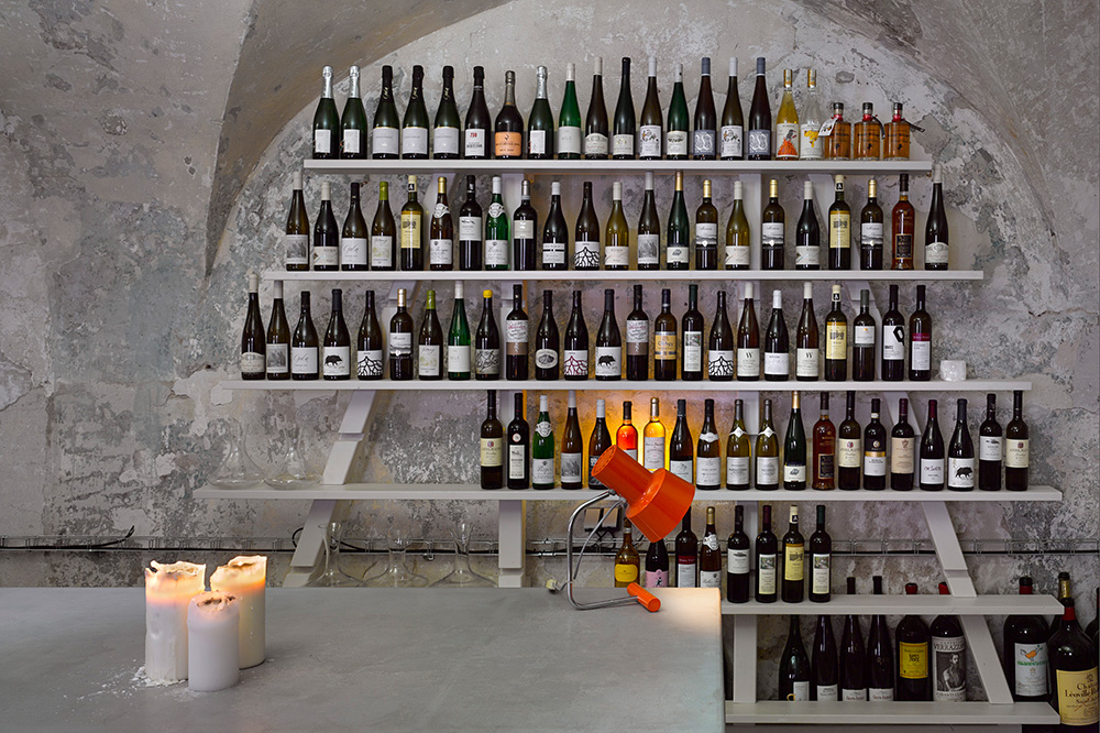Wine display at Bokovka