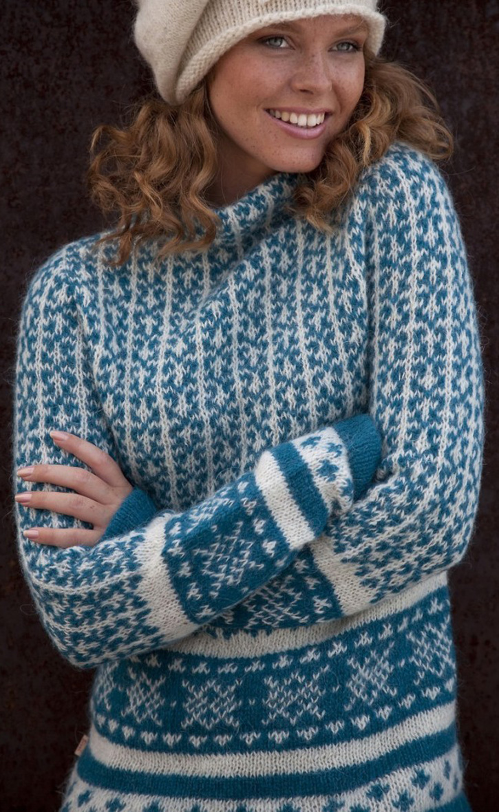 Colorful wool sweater at Sirri