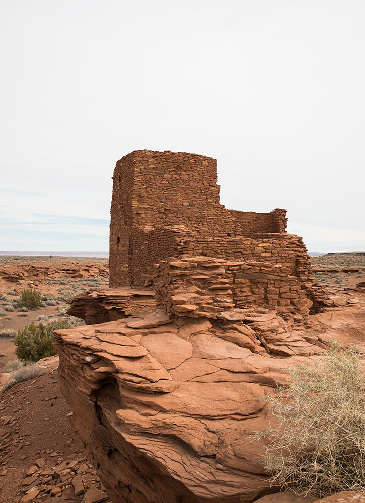 The Wukoki ruin at the Wupatki National Monument outside Flagstaff