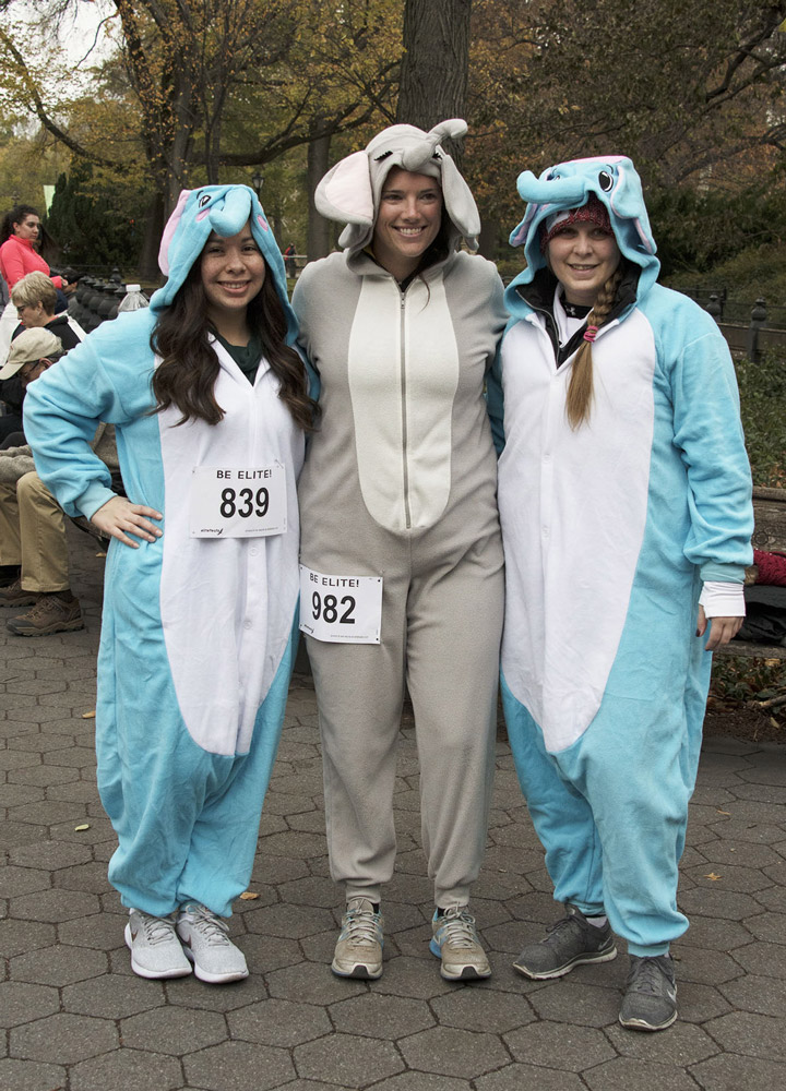 Runners in costume at the Save the Elephants Run/Walk - Zambezi Elephant Fund