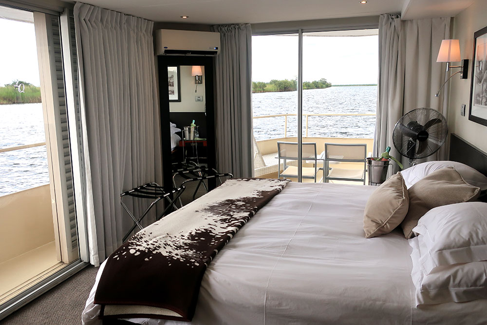 Our master suite on the <em>Zambezi Queen</em>