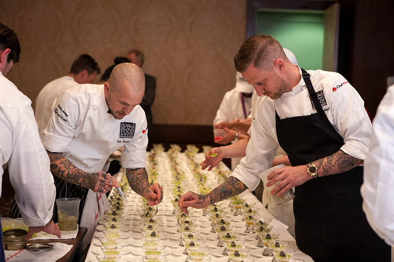 Preparations for Pebble Beach Food & Wine - © Robert Ellis Photography