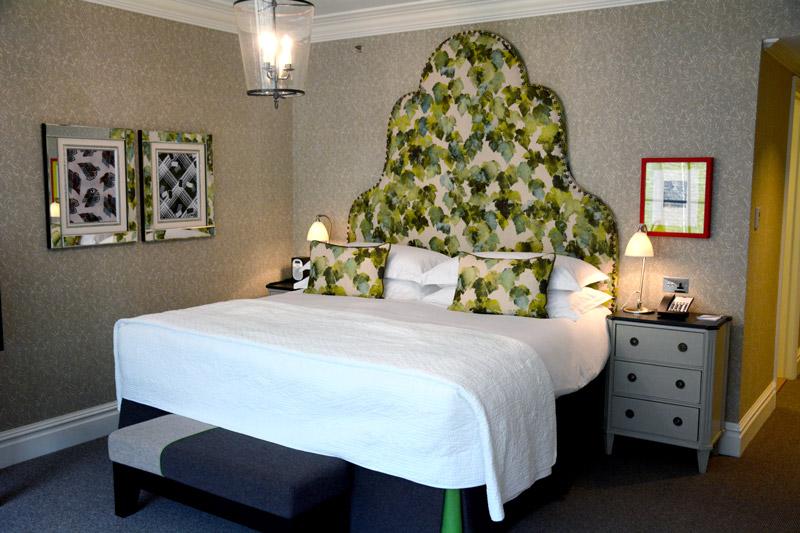 Our Deluxe Junior Suite bedroom at Ham Yard Hotel