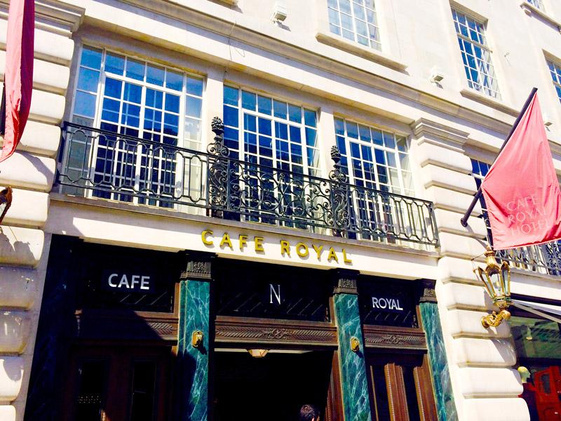 Entrance of the Hotel Café Royal