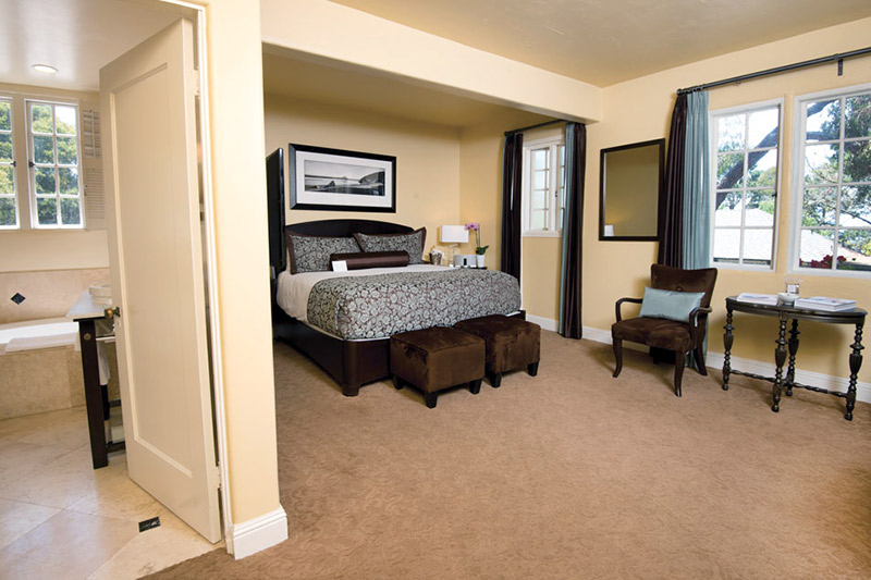 Bedroom at L'Auberge Carmel