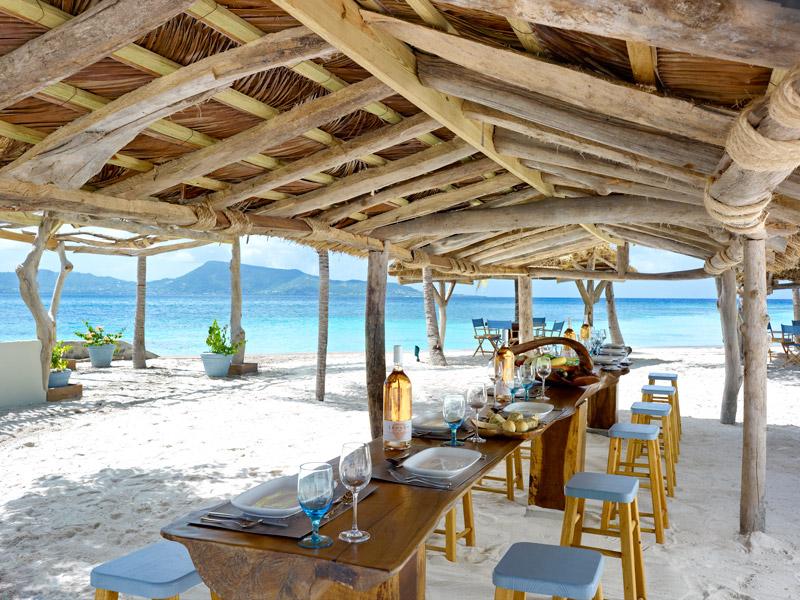 Beach restaurant at Petit St. Vincent