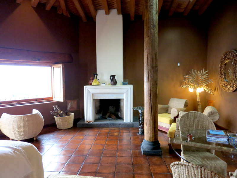 "Interior of our ""Reyna Ireri"" suite at Hacienda Ucazanaztacua"