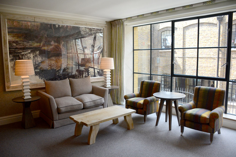 Our living room at Ham Yard Hotel