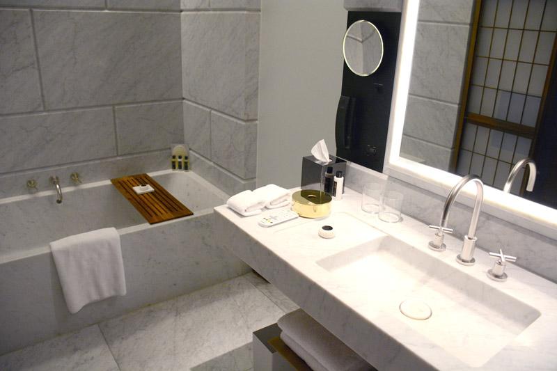 Our bath at Hotel Café Royal