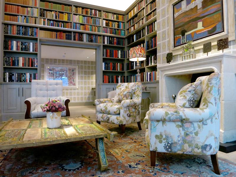 The library at Ham Yard Hotel