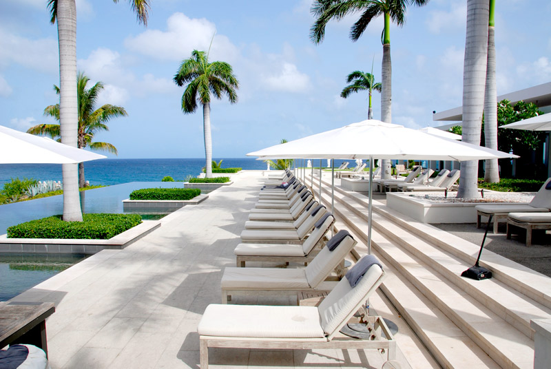 Pool overlooking the ocean at Viceroy Anguilla