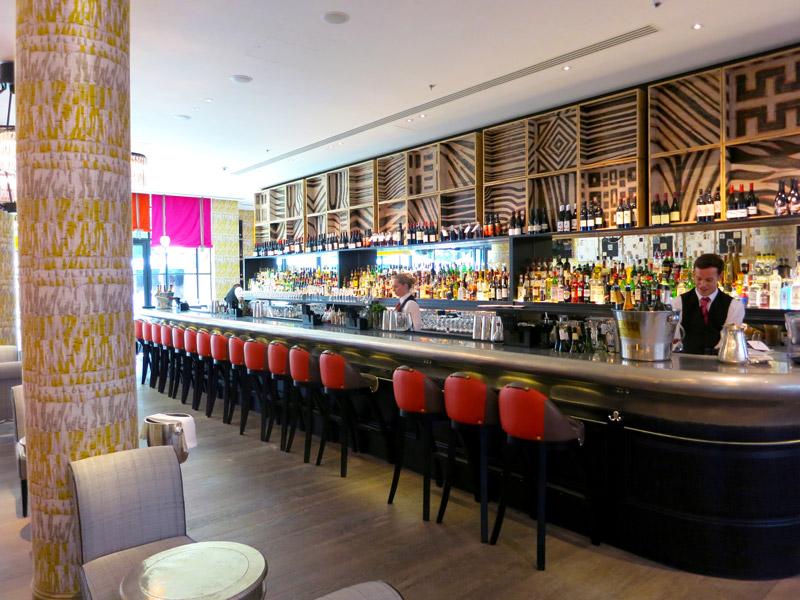 The bar at Ham Yard Hotel