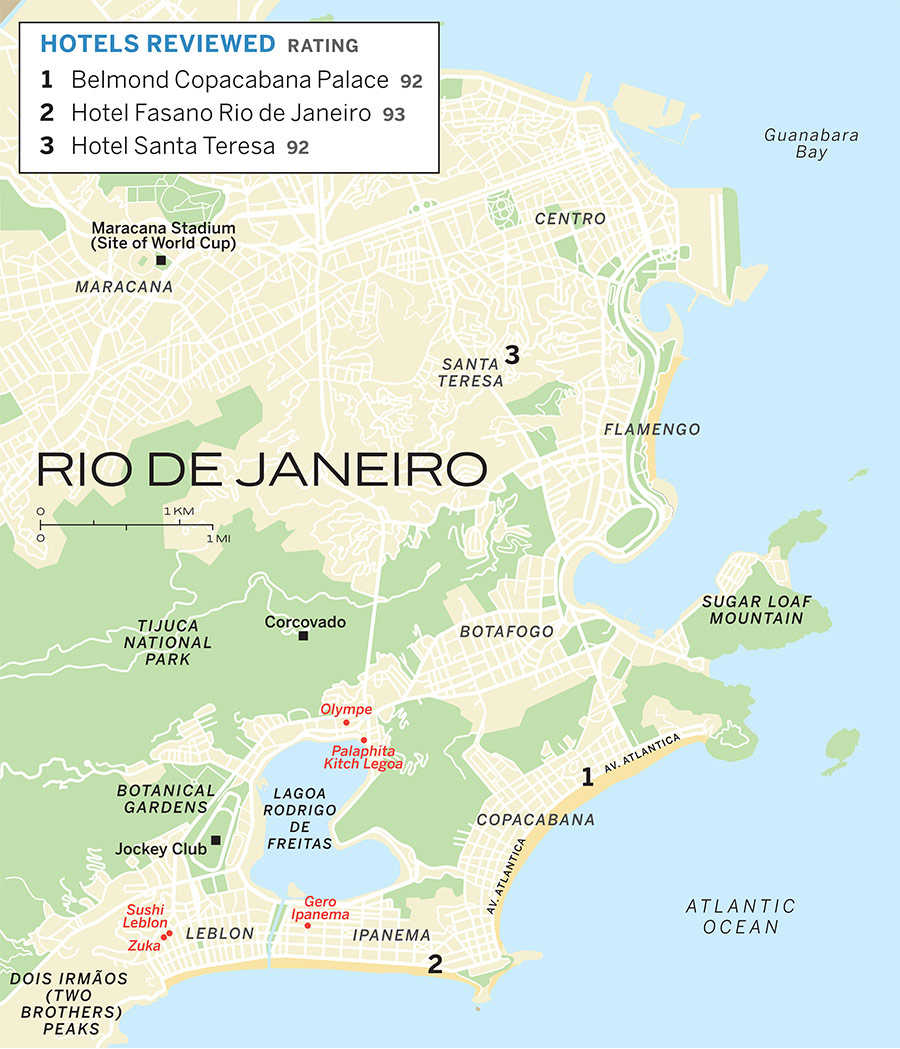 Map of surroundings of rio de janeiro