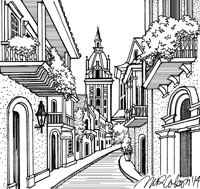 Cartagena Drawing by Melissa Colson