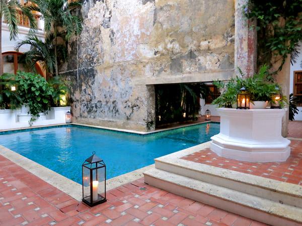 Pool at dusk, Casa San Agustin