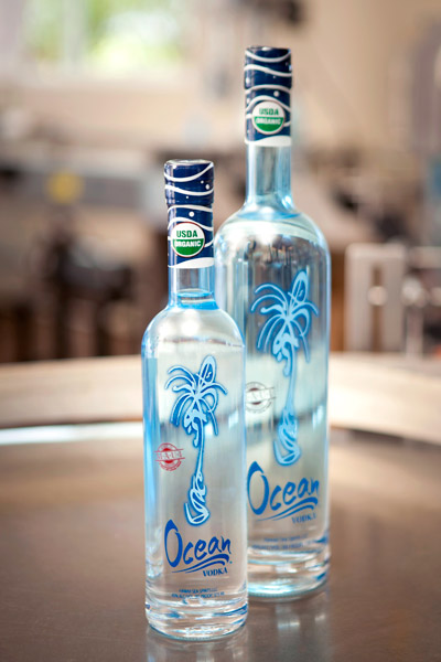 Sugar cane-distilled Ocean Vodka
