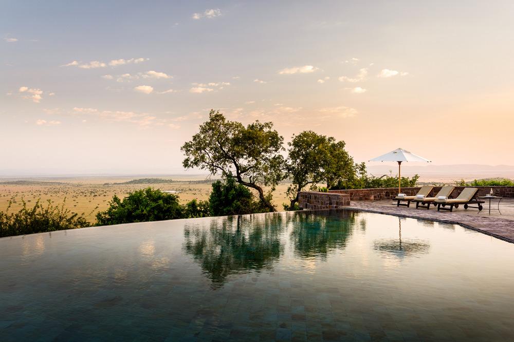 The main pool at Singita Sasakwa in the Serengeti National Park, Tanzania