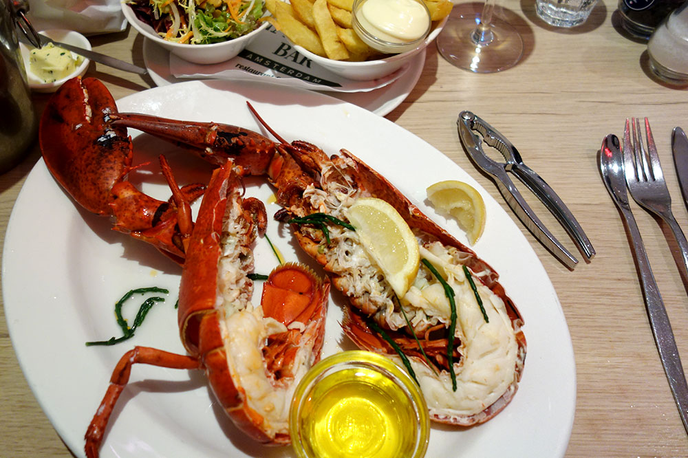 Lobster from <em>The Seafood Bar</em> in Amsterdam