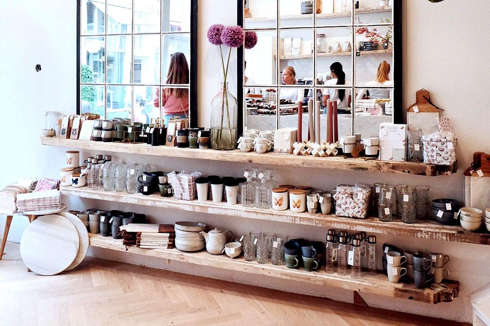 Home items on display at Pluk Berenstraat
