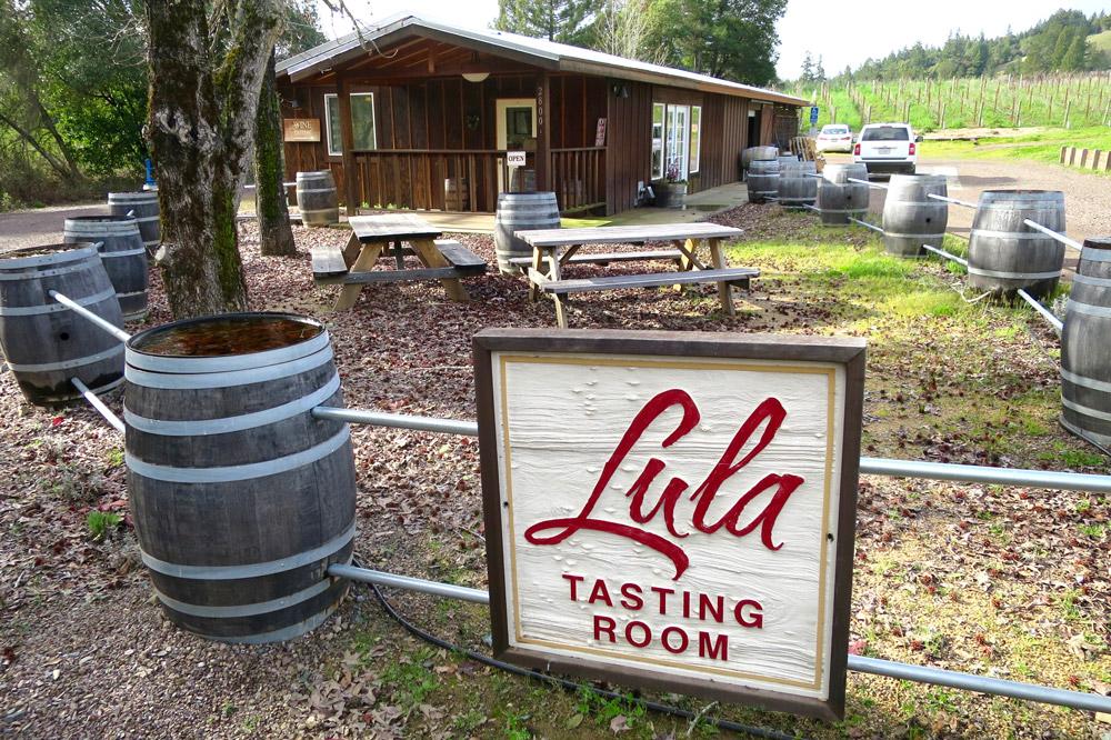 Tasting room at Lula Cellars